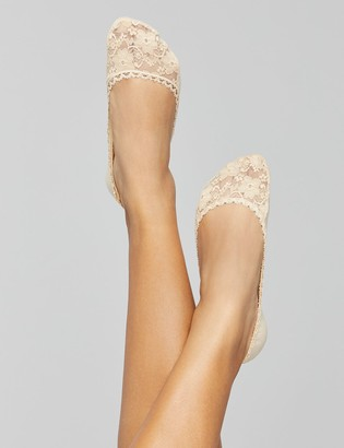 Lane Bryant Lace & solid foot liners 2 pack
