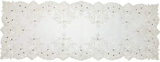 Precious Moments White Lace Elegance Table Runner