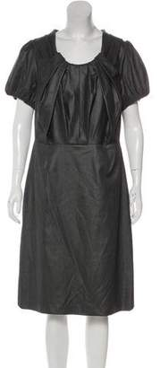 Magaschoni Pleated Midi Dress w/ Tags