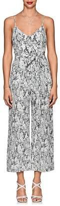 L'Agence Women's Jaelyn Python-Print Silk Jumpsuit