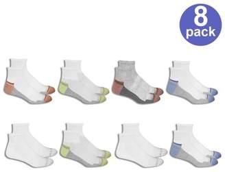 Fruit of the Loom Men's 8 Pair Breathable Ankle Socks