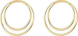 French Connection Women's Double Frontal Hoop Earrings