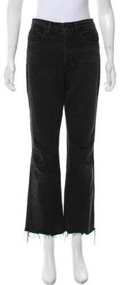 Helmut Lang High-Rise Raw Cropped Jeans
