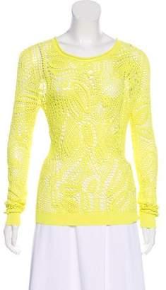 Ralph Lauren Crochet Long Sleeve Top