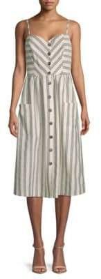 Rebecca Minkoff Bobbi Striped Cotton Midi Dress
