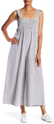 MELLODAY Smocked Wide Leg Jumpsuit