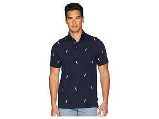 Ted Baker Scraffy Short Sleeve Cockatoo Embroidered Polo Men's Clothing