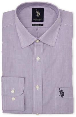 U.S. Polo Assn. Purple Stripe Regular Fit Dress Shirt
