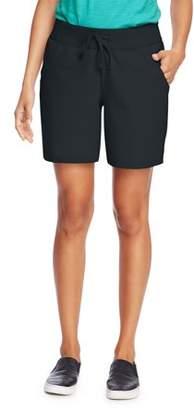 Hanes Women's 7 inseam Jersey Knit Pocket Shorts with Drawstring Waist
