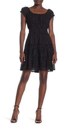Hale Bob Cap Sleeve Crochet Dress