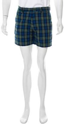MAISON KITSUNÉ Flat Front Plaid Shorts
