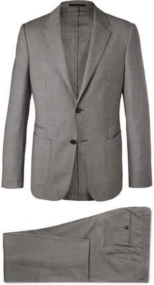 Ermenegildo Zegna Grey Wash & Go Slim-Fit TECHMERINO Puppytooth Wool Suit