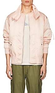 Helmut Lang Men's Oversized-Collar Bomber Jacket - Pink