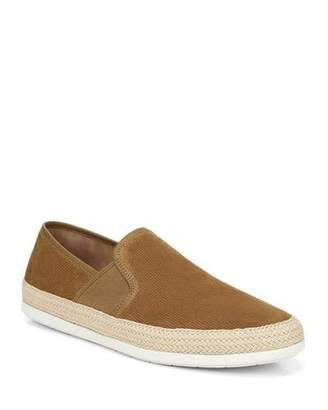 Vince Men's Chad Perforated Sport Suede Slip-On Sneakers