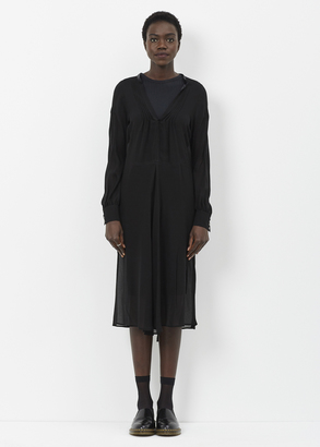 Junya Watanabe black sheer l/s apron dress $742 thestylecure.com