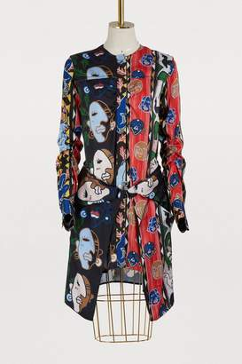 Carven Short face print dress