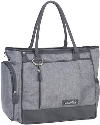 Babymoov Essential Bag-Diaper Tote with Changing Pad, Shoulder Strap and 3 Piece Baby Travel Accessories, Smokey Gray