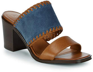 Frye Ashley Suede And Leather Mule