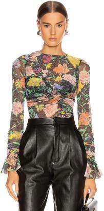 Alice McCall Cosmic Dancer Long Sleeve Top in Black Floral   FWRD
