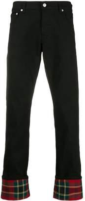 Alexander McQueen tartan hem jeans