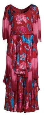 Romance Was Born Xandadu Floral Fringe Maxi Dress