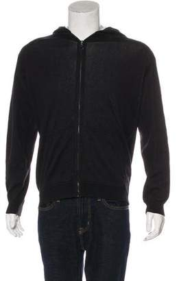Lucien Pellat-Finet Cashmere-Blend Skull-Embroidered Zip-Up Hoodie