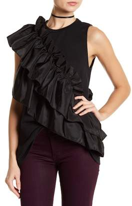 Romeo & Juliet Couture Crew Neck Ruffle Accent Tee