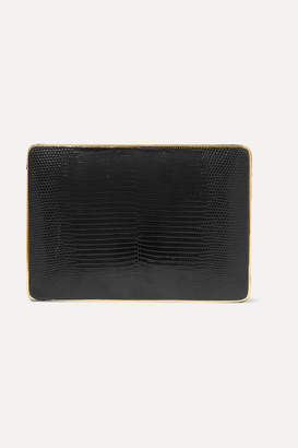Hunting Season The Square Compact Lizard Clutch - Black