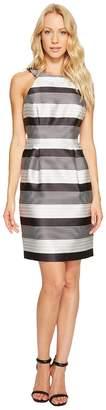 Jessica Simpson Striped Halter Sateen Dress Women's Dress