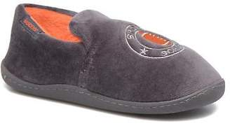 Isotoner Kids's Charentaise Velours Low Rise Slippers In Grey - Size Uk 1 / Eu