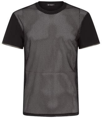 Versace Mesh T-shirt with Grecian Trim