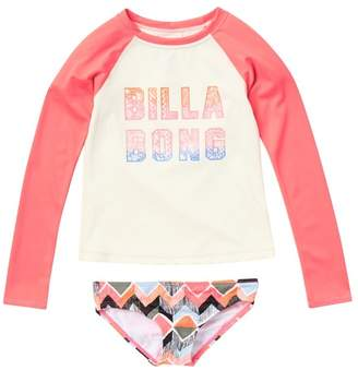 b8d3b8a3972b8 Billabong Zigginz Long Sleeve Rash Guard Set (Big Girls)
