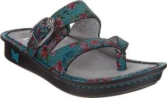 Alegria Leather Thong Sandals w/ Strap Detail - Valentina