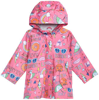 Carter's Baby Girls Hooded Graffiti-Print Raincoat