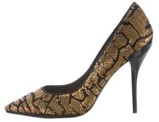 Roger Vivier Sequined Pointed-Toe Pumps w/ Tags