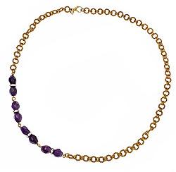 Courtney Simmelkjaer Short Link Amethyst Necklace