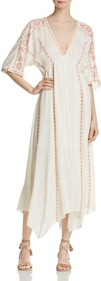 En Créme Embroidered Midi Dress $88 thestylecure.com