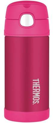 Thermos F4013PK6 12-ounce Stainless Steel Vacuum-Insulated Straw Bottle (Pink)