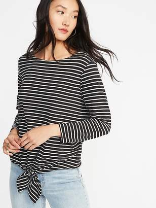 Old Navy Relaxed Mariner Tie-Front Top for Women