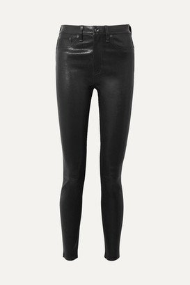 Rag & Bone Stretch-leather Skinny Pants - Black