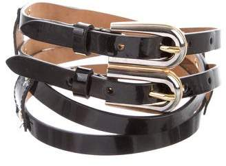 Dolce & Gabbana Patent Leather Waist Belt