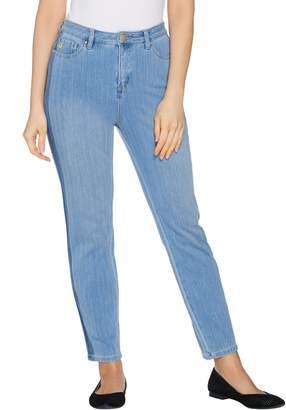 Belle By Kim Gravel Belle by Kim Gravel Flexibelle Tuxedo Stripe Ankle Jeans