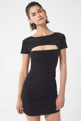 Motel Shimmie Striped Bodycon Mini Dress