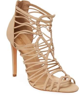 Schutz Women's Strappy Leather Stiletto Sandal