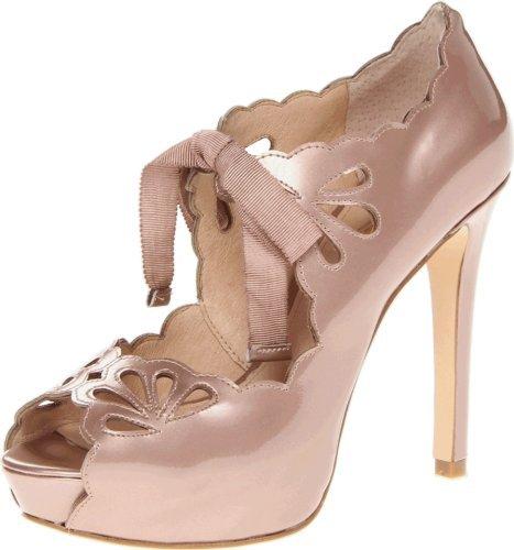 Joan & David Women's Cicilee Peep-Toe Pump,Light Pink,7 M US