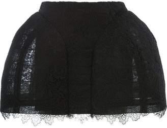Vera Wang lace detail short skirt