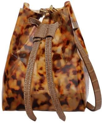 Tortoise Print Plastic Shoulder Bag