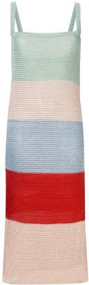 SUBOO Lucy Knitted Wide Stripe Midi Dress