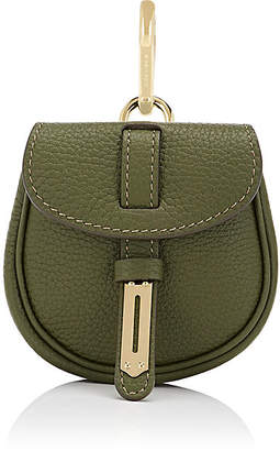 Fontana Milano 1915 Women's Mimosa Mini Leather Pouch Bag Charm - Olive
