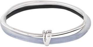 Alexis Bittar Lucite & Liquid Metal Double Skinny Bangle
